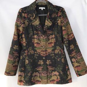 Cabi Vintage Print Chinoiserie Jacket Blazer #704